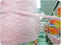 Space dyed yarn